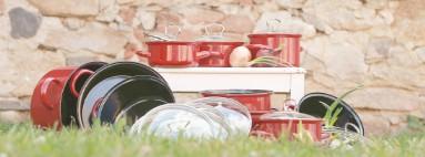 Smaltovné nádobí - bordo